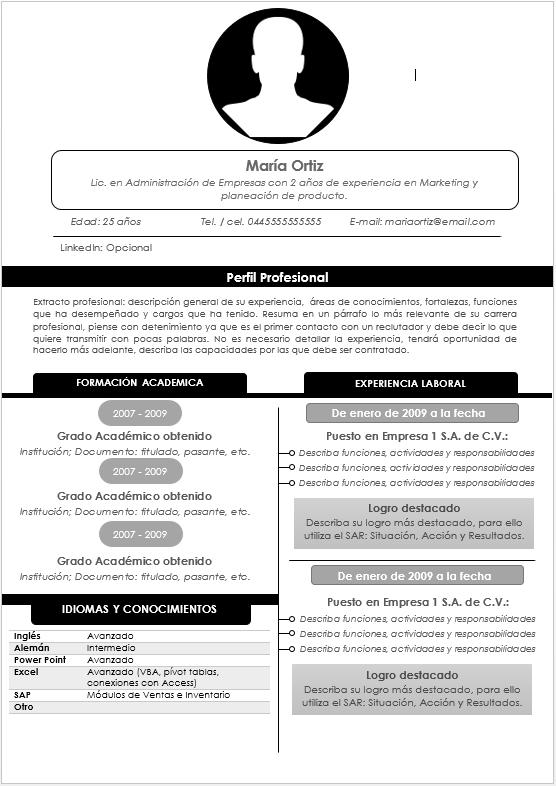 Cómo hacer un Currículum Vitae? - Guía Paso a Paso > Ejemplos ...
