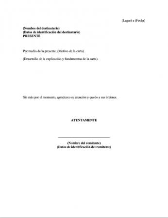 Carta formal para una institución