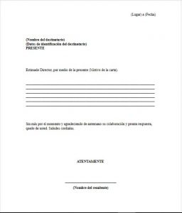Carta Formal para un Director
