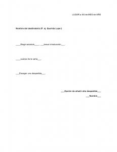 Formato de carta informal