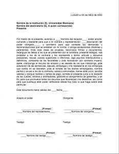Formato de usos de carta poder para recoger documentos