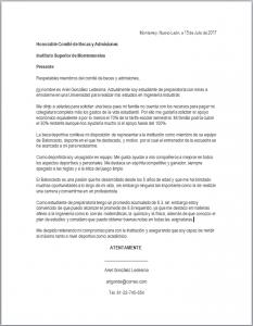 Carta de Solicitud de Beca Deportiva Word
