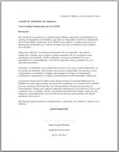 Ejemplo de Carta para Solicitud de Beca Universitaria