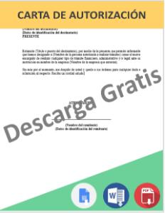 Formato de carta de autorización para trámites