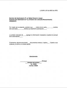 Formato de carta de autorización