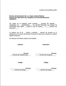 Formato de cesión de derechos
