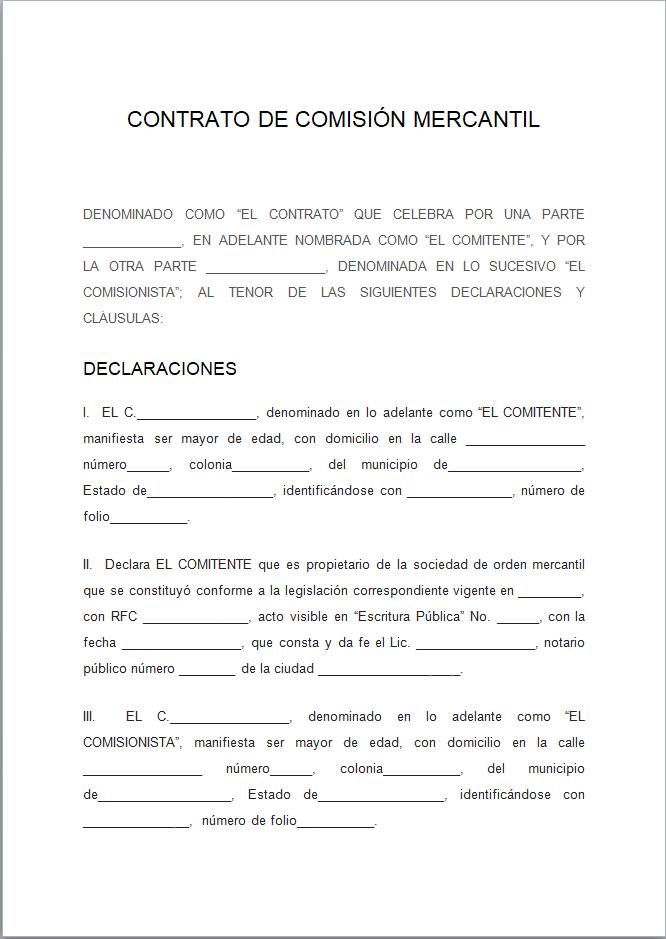 Ejemplo De Contratos