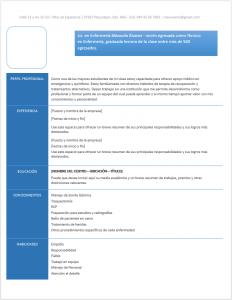curriculum vitae de enfermería ejemplos formatos y plantillas