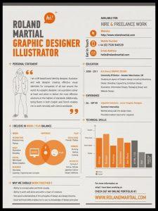 Ejemplo de CV de Diseñador Gráfico 1