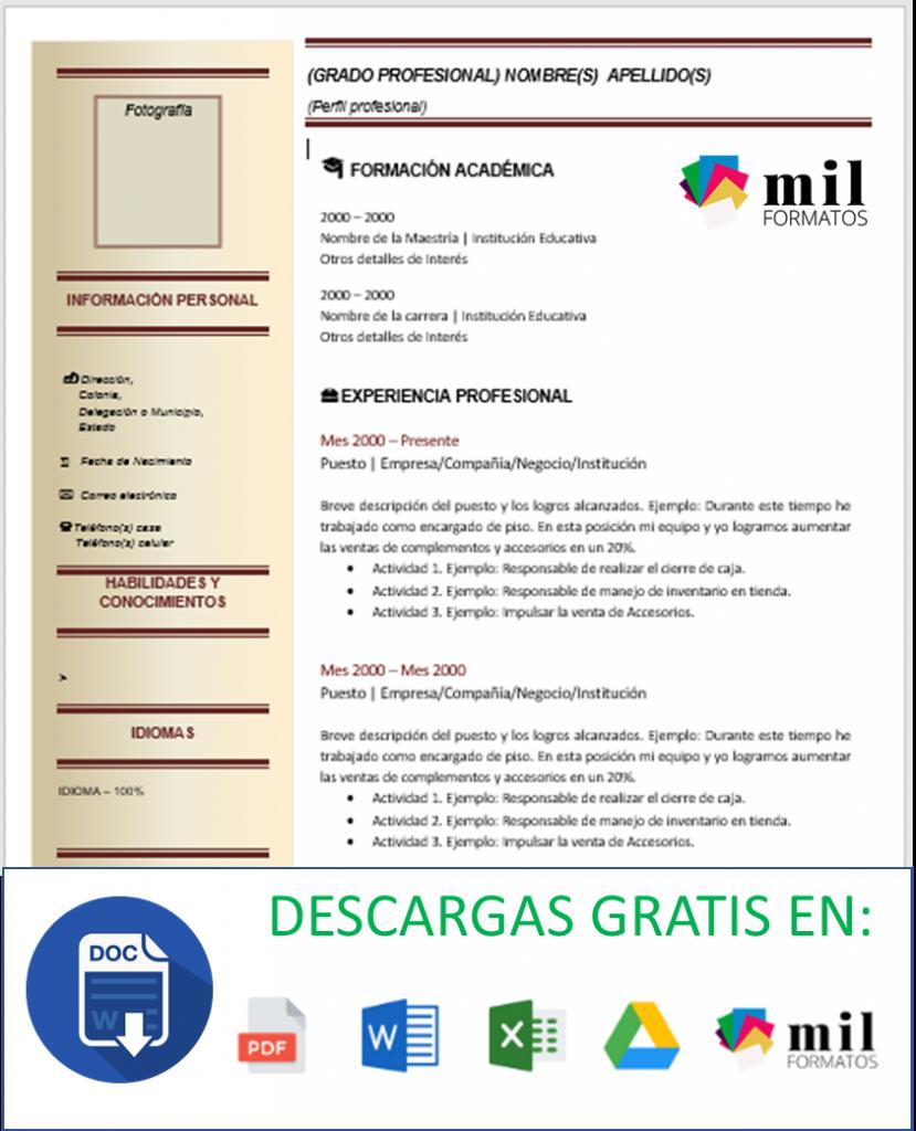 Currículum De Abogado > Ejemplos, Formatos Y Plantillas