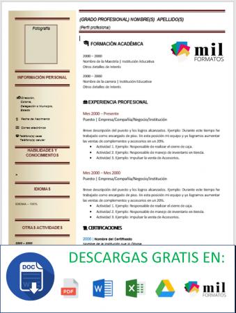 Curriculum Ingeniero Industrial