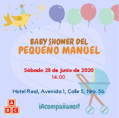 Plantilla de Invitación para Baby Shower con globos