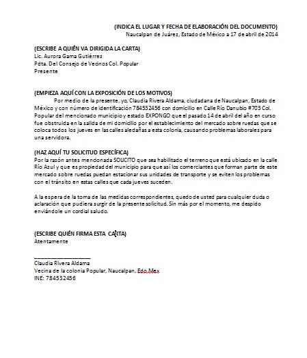 Carta De Solicitud Formatos Y Ejemplos Word Para Imprimir
