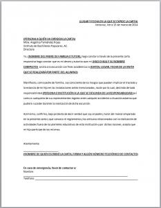 Carta Responsiva Escolar