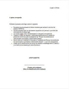 Formato de Carta Compromiso CENEVAL