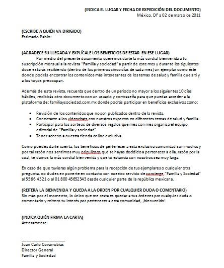 Carta De Bienvenida Formatos Y Ejemplos Word Para Imprimir