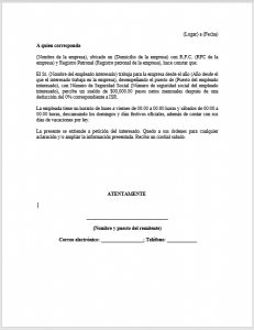 Formato de Carta Patronal para Guardería