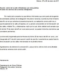 Ejemplo Carta Informativa