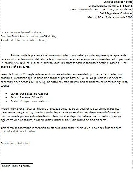 Carta de devoluci n de dinero formatos y ejemplos for Salida de envio de oficina de cambio de destino