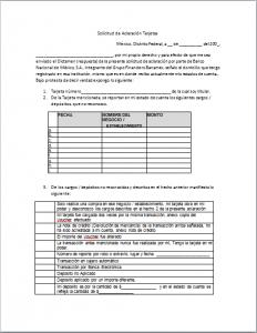 Formato Carta Reclamo Banamex