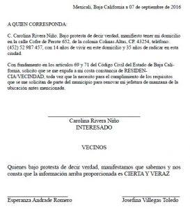 Carta de residencia formatos y ejemplos word para imprimir - Solicitar nota simple registro propiedad gratis ...