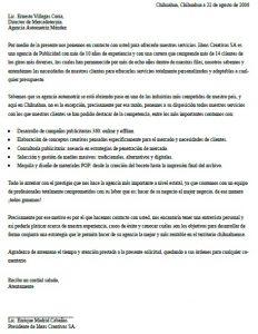 Ejemplo de Carta de Presentación de una Empresa