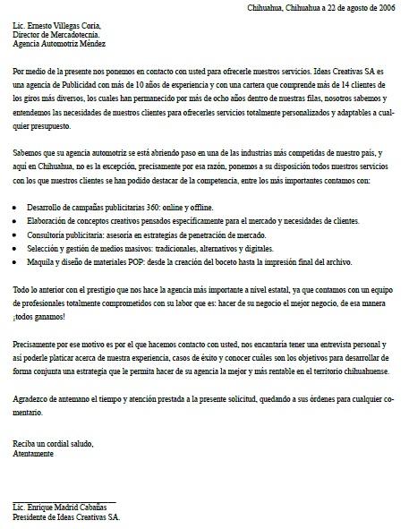 Carta De Presentacion De Una Empresa Formatos Y Ejemplos
