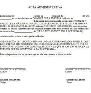 Formato de Carta Administrativa