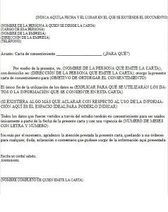 Formato Carta de Consentimiento