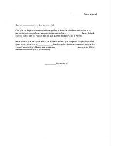 Carta de Despedida a mi Novia