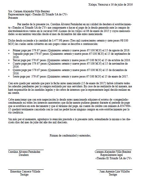 Carta Compromiso De Pago Formatos Y Ejemplos Word Para Imprimir