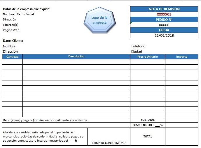 formato de factura ejemplos y formatos descarga gratis