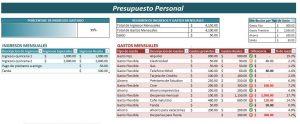 Ejemplo de Presupuesto Personal