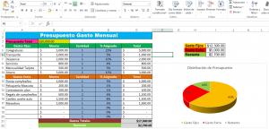 Formato Excel para presupuesto