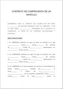 Formato de Contrato de Compraventa de Vehículo