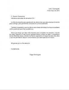 Ejemplo de Carta de Despedida de Trabajo