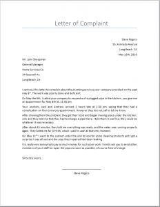 Ejemplo de Carta Reclamación en Inglés