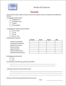Ejemplo y Formato de Encuesta en Word