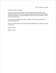 Formato de Carta de Invitación a una fiesta