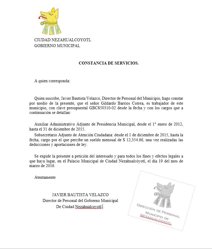 carta de constancia de servicios  u0026gt  formatos y ejemplos