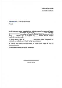 Formato de Carta de Pasantía
