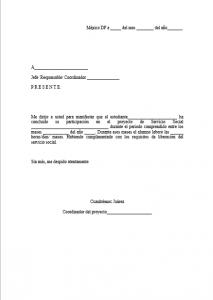 Formato de Carta de Liberación