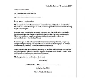 Imagen de Carta de Presentación Personal