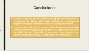 Conclusión de Presentación Ejecutiva