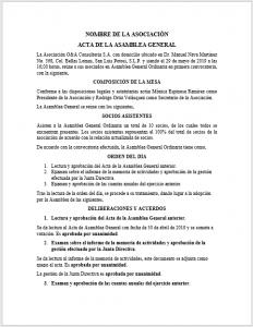 Formato de Acta de Asamblea