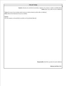 Formato de Ficha de Trabajo
