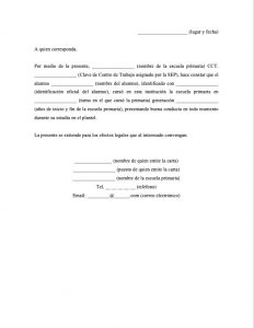 Carta de Buena Conducta Primaria