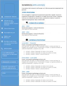 Formato de Currículum de Psicólogo