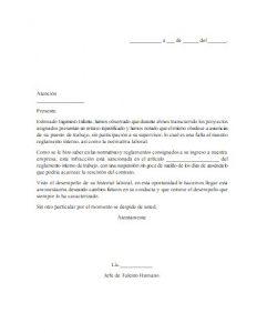 Formato de Carta de Amonestación