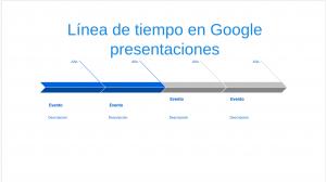 Formato de linea de tiempo en Google presentaciones